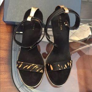 Cole Haan animal print heels.